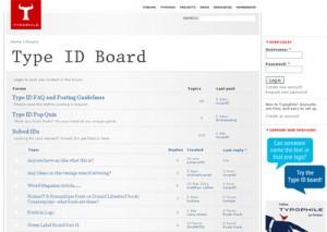 Type ID Board