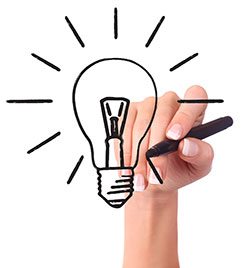 marketing ideas lightbulb