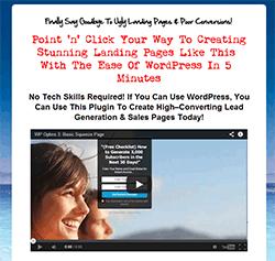 WP optin page plugin